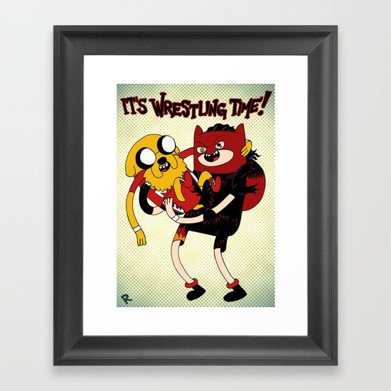 It's Wrestling Time!  Framed Art Print