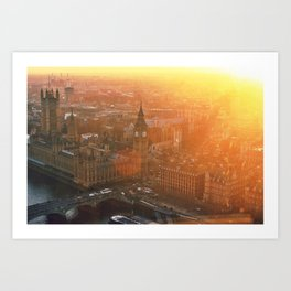 Sunsets over London Town Art Print