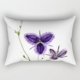Vintage Wildflower Purple Rectangular Pillow