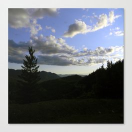 Evening on Top of the Summit.... Canvas Print