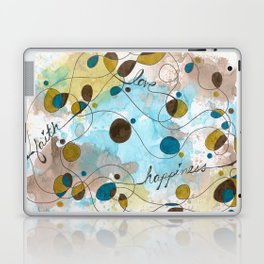 Flourish: Faith. Love. Happiness. Laptop & iPad Skin