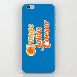 Orange Julius Caesar iPhone Skin