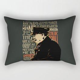Winston Churchill Pop Art Quote Rectangular Pillow