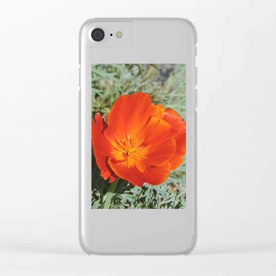 California Poppy Clear iPhone Case