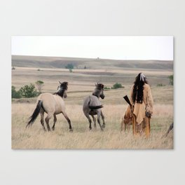 You will not ride today Canvas Print