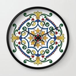 Vintage mandala with flourish elements Wall Clock