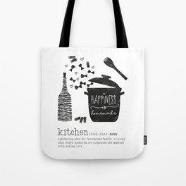 Kitchen-Love (Definition) Cooking Illustration Tote Bag