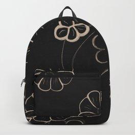 Light Sepia Flower Pattern #1 #drawing #decor #art #society6 Backpack