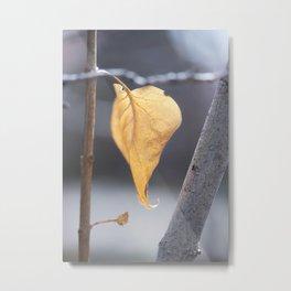 Glowing Lilac Leaf Metal Print