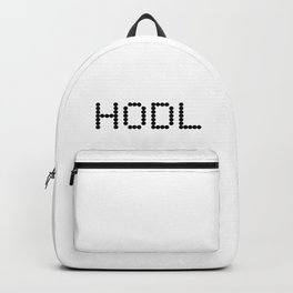 HODL YOUR CRYPTOCURRENCY BITCOIN LITECOIN RIPPLE ETHEREUM Backpack