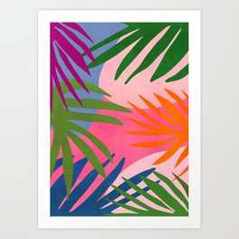 Nature Walk / Abstract Tropical Art Print