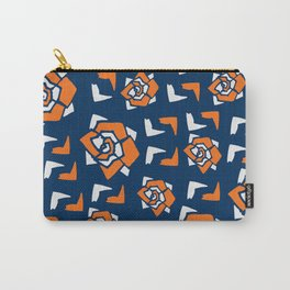 Geometric Florals Carry-All Pouch