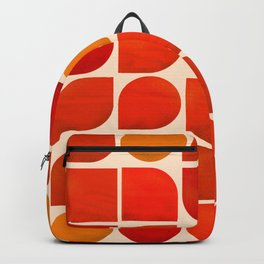 Fun Geometry - Mid-century abstract Backpack