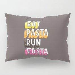 Eat Pasta typography Pillow Sham
