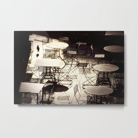 empty cafe Metal Print