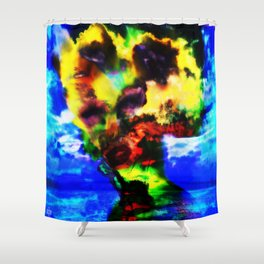 """""""Girl Built of Sky"""" by surrealpete Shower Curtain"""
