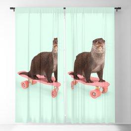 SKATE OTTER Blackout Curtain