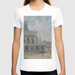 Camille Pissarro - The Church of Saint-Jacque in Dieppe, Sunlight, Morning T-shirt