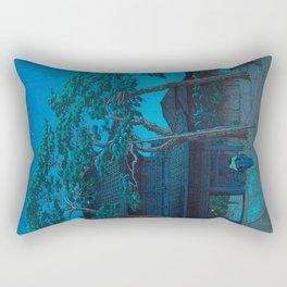 Vintage Japanese Woodblock Print Japanese Nara Park At Night Rectangular Pillow