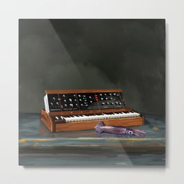 Synthesizer and Aquid Metal Print