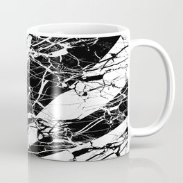Rays Of Marble - Black and White, marble textured, abstract art Coffee Mug
