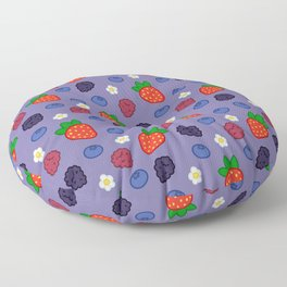Mixed Berry Smoothie Floor Pillow