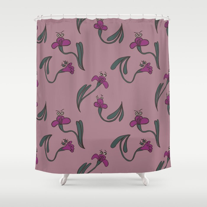 Moody Florals Shower Curtain