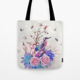 FLORAL  ALCEDO ATTHIS Tote Bag