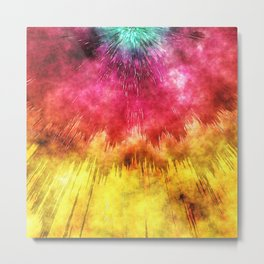 Colorful Textured Tie Dye Metal Print