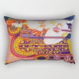 Red Head Klimt Rectangular Pillow