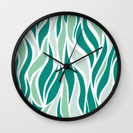 Go with the Flow - Sea Green Wall Clock