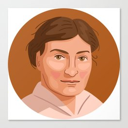 Queer Portrait - Willa Cather Canvas Print