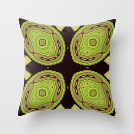 Chameleons Unite Abstract Pattern Throw Pillow