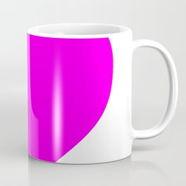 Heart (Magenta & White) Coffee Mug