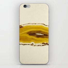 Agate - Yellow Slice iPhone Skin