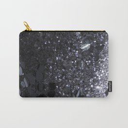 Black and Gray Glitter Bomb Carry-All Pouch