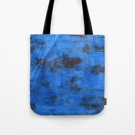 Bright navy blue abstract watercolor Tote Bag