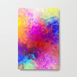 Colorful Splatter Metal Print