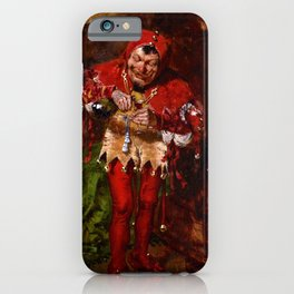 Keying Up - The Court Jester by William Merritt Chase iPhone Case