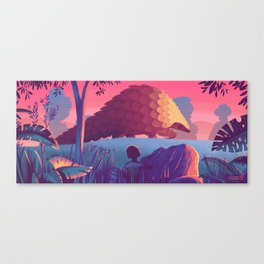 Last of The Giant Pangolins Canvas Print