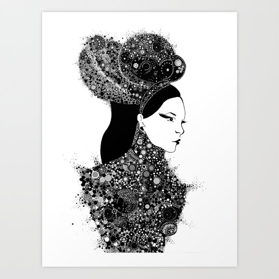 She`s a lady Art Print