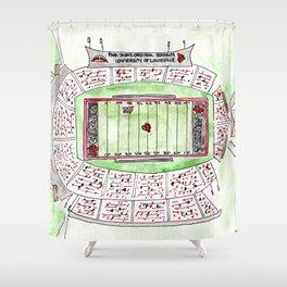 U of L Papa John's Cardinal Stadium, Louisville, Kentucky, Watercolor Shower Curtain