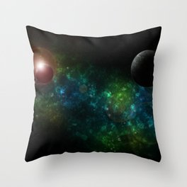 Blue System Throw Pillow