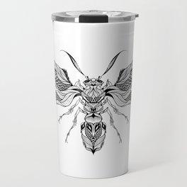 WASP beetle psychedelic / zentangle style Travel Mug
