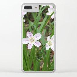 Mini Purple Wild Flower Clear iPhone Case