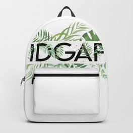 IDGAF Jungle Green Backpack