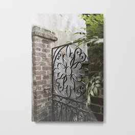 Charleston Back Garden Gate Metal Print