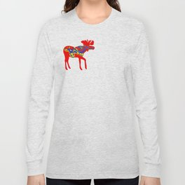 Graphic Dala Moose Long Sleeve T-shirt