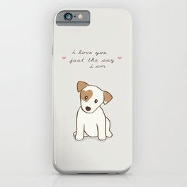 Heart spotted jack Russell Terrier Dog iPhone Case