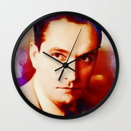 Fredric March, Vintage Actor Wall Clock